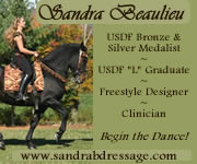 SandraB Dressage Start 2/8/12